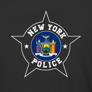 New York Police T Shirt - New York State flag - Baseball T-Shirt