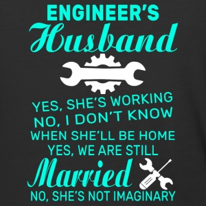 Engineer's Husband Yes She's Working T Shirt - Baseball T-Shirt