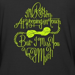 At keeping in touch but i mis you - Baseball T-Shirt
