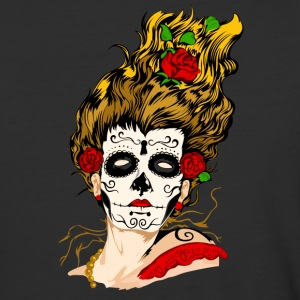 The Day of The Dead Skull Face - Baseball T-Shirt
