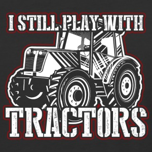 Play Tractors! Farmer! Tractor! Funny! Ranch - Baseball T-Shirt