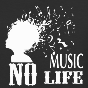 No Music - No Life - Baseball T-Shirt