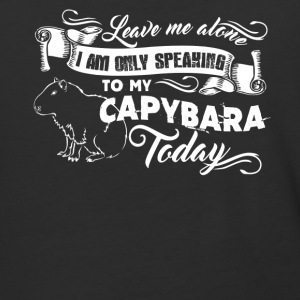 Only Speaking To My Capybara Shirt - Baseball T-Shirt