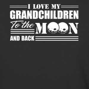 I Love My Grandchildren To The Moon And Back Shirt - Baseball T-Shirt