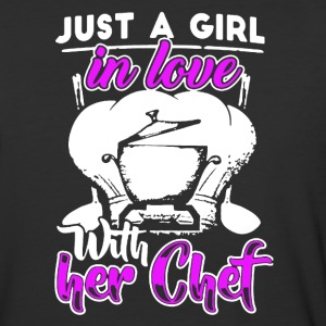 Girl In Love With Her Chef Shirt - Baseball T-Shirt