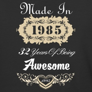 Made in 1985 32 years of being awesome - Baseball T-Shirt