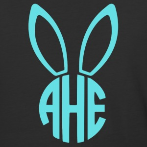 Easter Bunny Monogram - Baseball T-Shirt