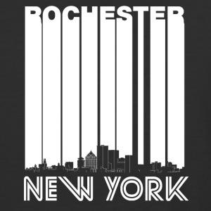 Retro Rochester New York Skyline - Baseball T-Shirt