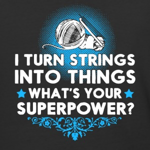 I Turn Strings Into Things Knitting T Shirt - Baseball T-Shirt
