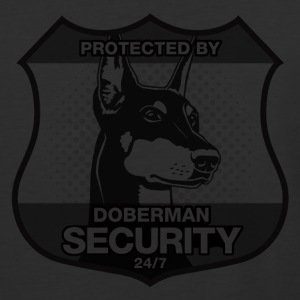 Protected By Doberman Security. - Baseball T-Shirt