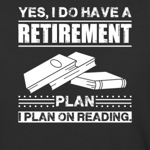 Retirement Plan On Reading Book Shirt - Baseball T-Shirt