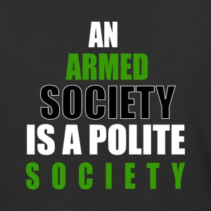 An Armed Society Is A Polite Society - Baseball T-Shirt