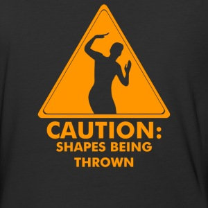 Caution Shapes Being Thrown - Baseball T-Shirt