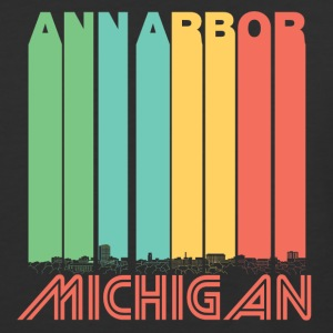 Retro Ann Arbor Michigan Skyline - Baseball T-Shirt