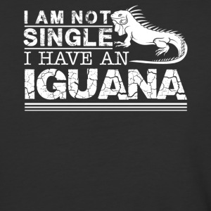 I Am Not Single I Have An Iguana Shirt - Baseball T-Shirt