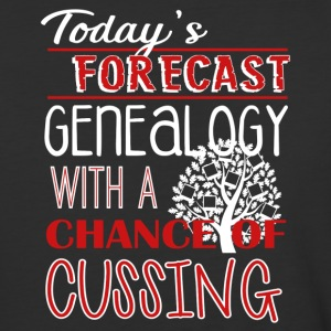 Genealogy With Chance Of Cussing Shirt - Baseball T-Shirt