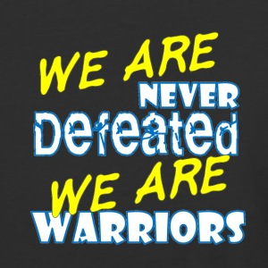 We Are never defeated we are warriors - Baseball T-Shirt