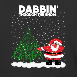 Cute Funny Santa Dabbing Through the Snow - Baseball T-Shirt