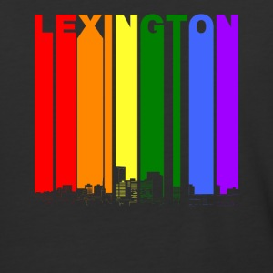 Lexington Kentucky Skyline Rainbow LGBT Gay Pride - Baseball T-Shirt