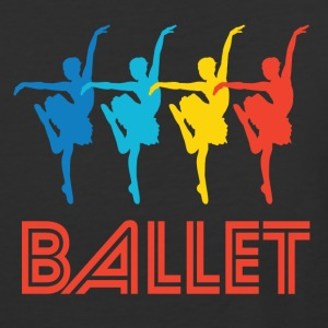 Retro Ballet Dance Pop Art - Baseball T-Shirt