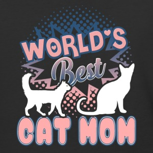 World Best Cat Mom Shirt - Baseball T-Shirt