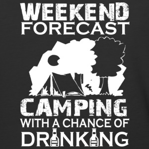 Camping With A Chance Of Drinking T Shirt - Baseball T-Shirt