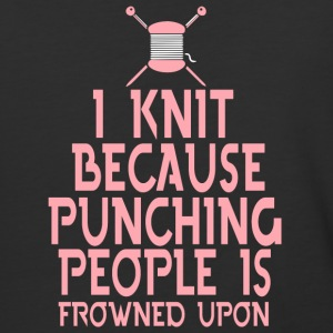 I Knit Because Punching People T Shirt - Baseball T-Shirt