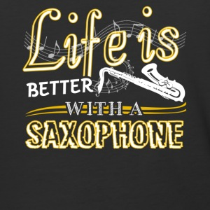 Life Is Better With Saxophone Shirt - Baseball T-Shirt