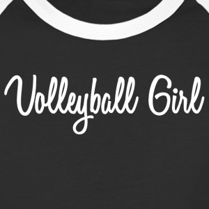 Cursive Volleyball Girl - Baseball T-Shirt