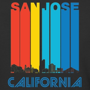 Retro San Jose California Skyline - Baseball T-Shirt