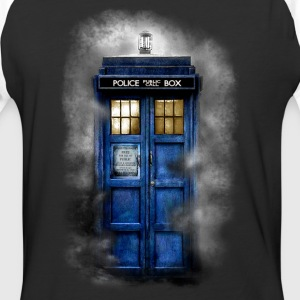 Haunted Police Phone Booth - Baseball T-Shirt