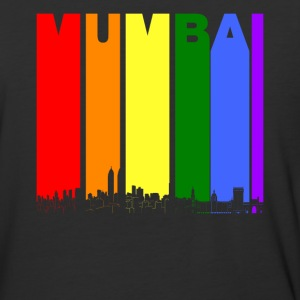 Mumbai India Skyline Rainbow LGBT Gay Pride - Baseball T-Shirt