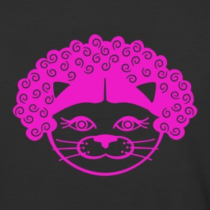 Kitty Afro - Baseball T-Shirt