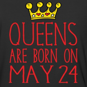 Queens are born on May 24 - Baseball T-Shirt