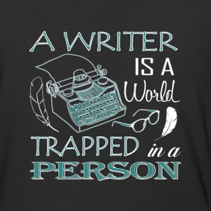 A Writer Is A World Trapped In A Person T Shirt - Baseball T-Shirt