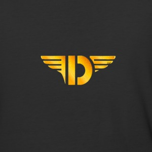 Gold Letter D - Baseball T-Shirt