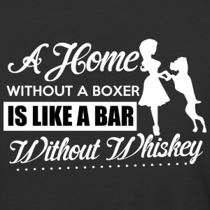 A Home Without A Boxer Is Like A Bar T Shirt - Baseball T-Shirt