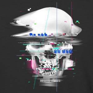 Blue Glitch of Death T Shirt - Baseball T-Shirt