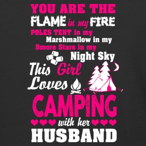 This Girl Loves Camping With Her Husband T Shirt - Baseball T-Shirt