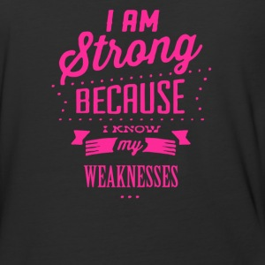 I am strong because i know my weaknesses - Baseball T-Shirt