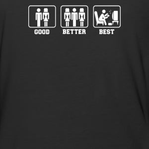 GOOD BETTER BEST MENS COMEDY GAMING - Baseball T-Shirt