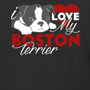 Love My Boston Terrier Shirt - Baseball T-Shirt