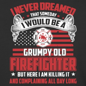 Grump Old Firefighter Shirt - Baseball T-Shirt