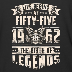 Life Begins at Fifty-Five Legends 1962 for 2017 - Baseball T-Shirt