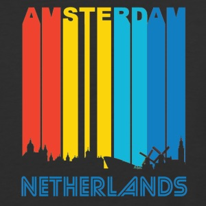 Retro Amsterdam Skyline - Baseball T-Shirt