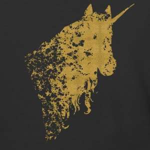 Mystical golden Unicorn - Baseball T-Shirt