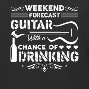 Weekend Forecast Guitar Shirt - Baseball T-Shirt