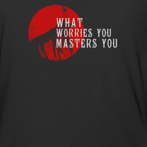 What worries you masters you - Baseball T-Shirt