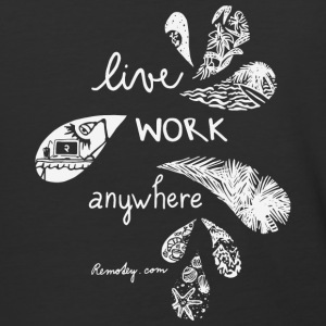 Live Work Anywhere - Baseball T-Shirt