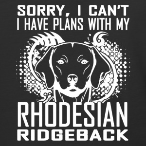 Plans With Rhodesian Ridgeback Shirt - Baseball T-Shirt